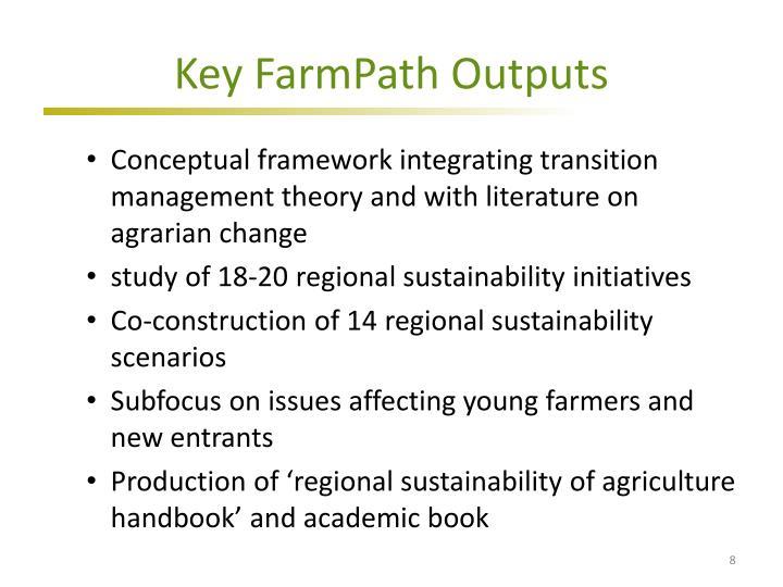 Key FarmPath Outputs