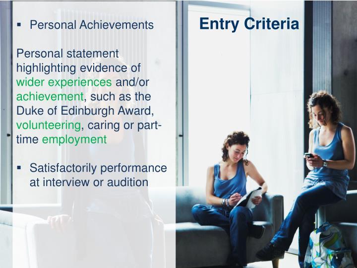 Personal Achievements
