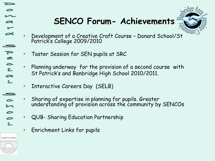 Development of a Creative Craft Course – Donard School/St Patrick's College 2009/2010