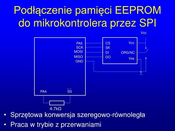 Podłączenie pamięci EEPROM do mikrokontrolera przez SPI