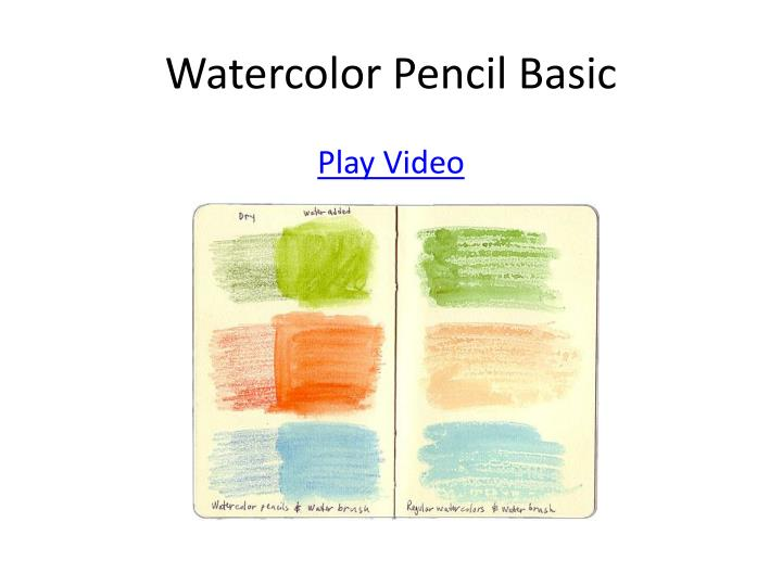 Watercolor Pencil Basic