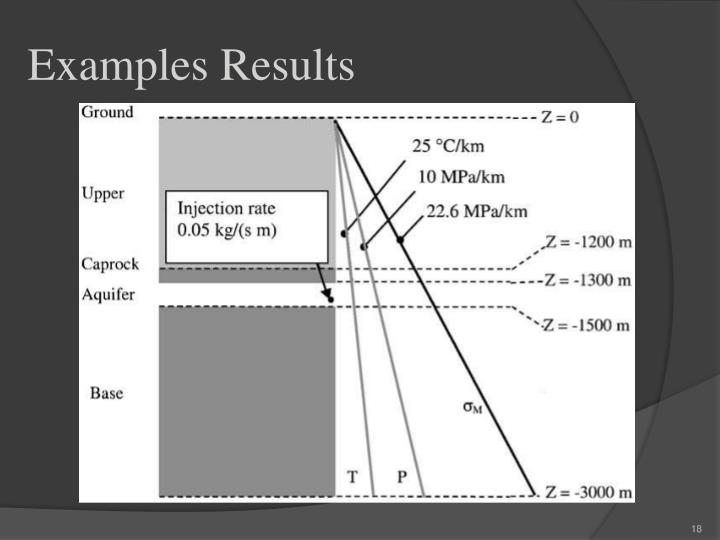 Examples Results
