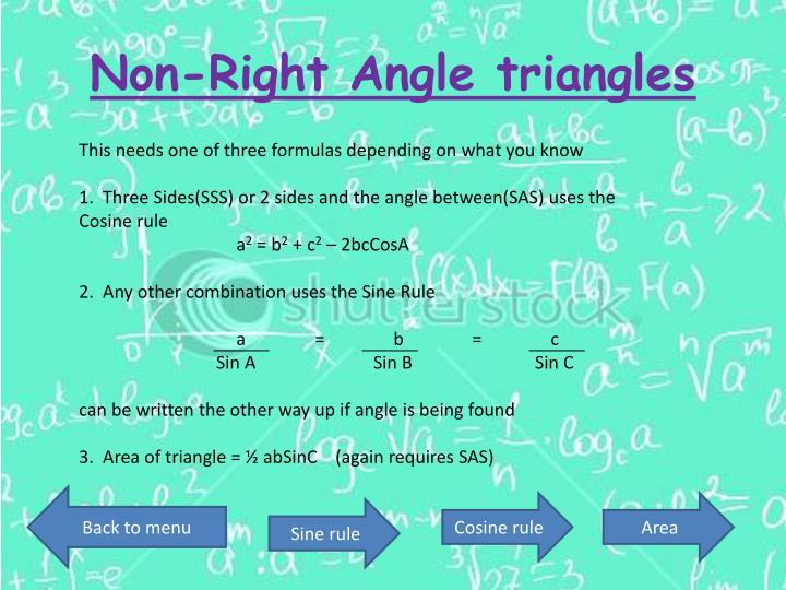 Non-Right Angle triangles