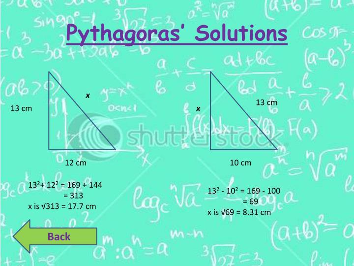 Pythagoras' Solutions
