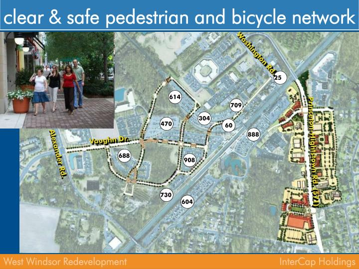 clear & safe pedestrian and bicycle network