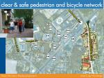 clear safe pedestrian and bicycle network