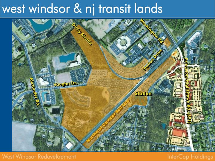 west windsor & nj transit lands