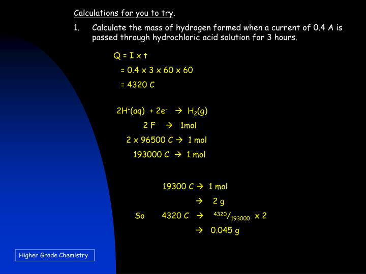 Calculations for you to try