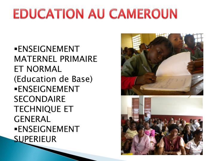 EDUCATION AU CAMEROUN