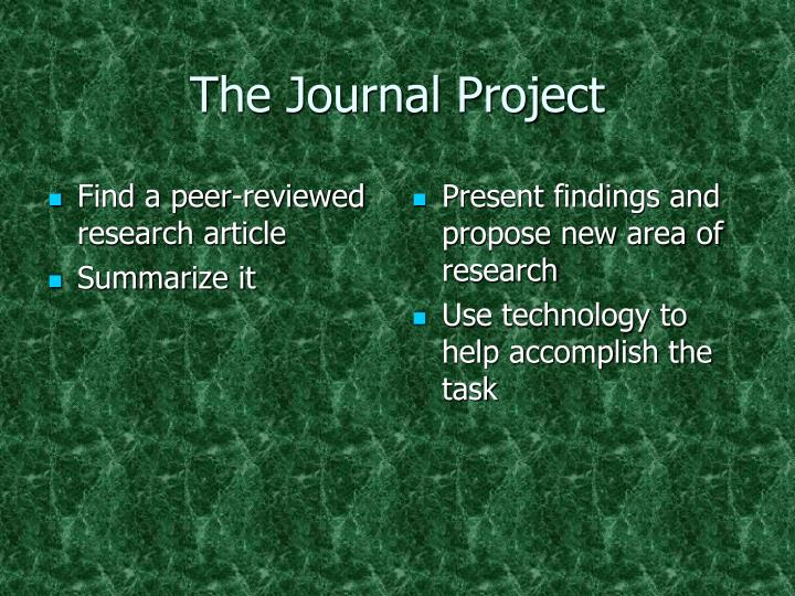The Journal Project