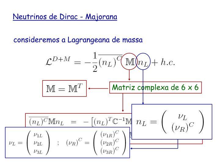 Matriz complexa de 6 x 6