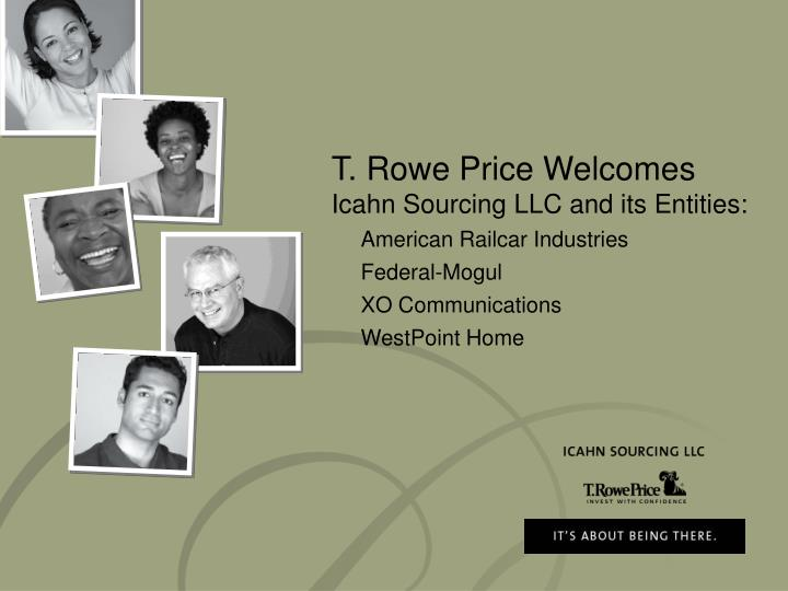 T. Rowe Price Welcomes