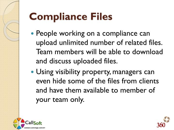 Compliance Files