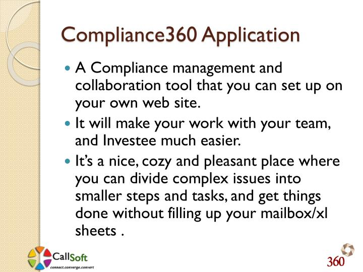 Compliance360 Application