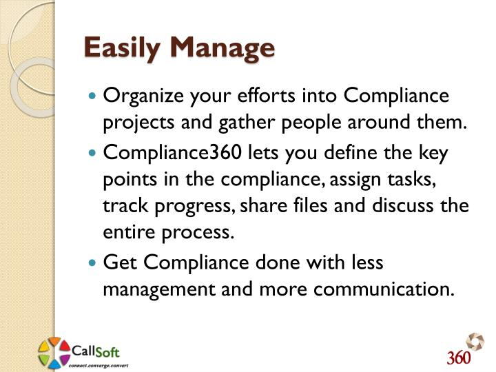 Easily Manage