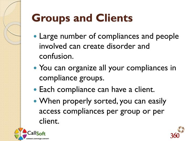 Groups and Clients