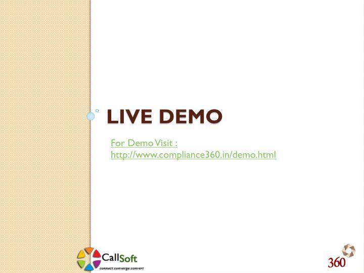 For Demo Visit :