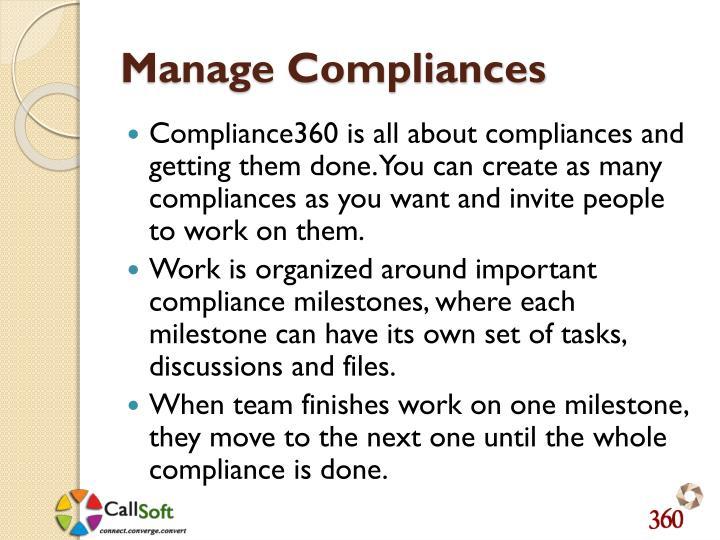 Manage Compliances