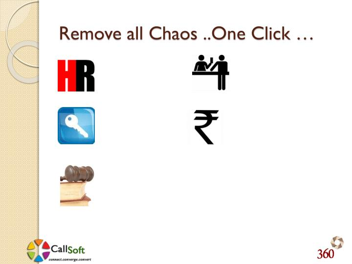 Remove all Chaos ..One Click …