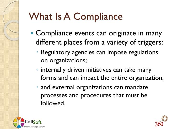 What Is A Compliance
