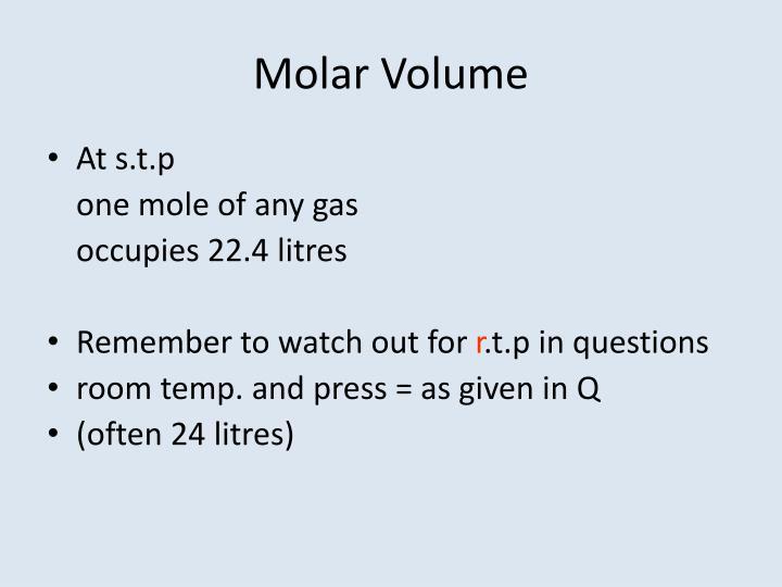 Molar Volume