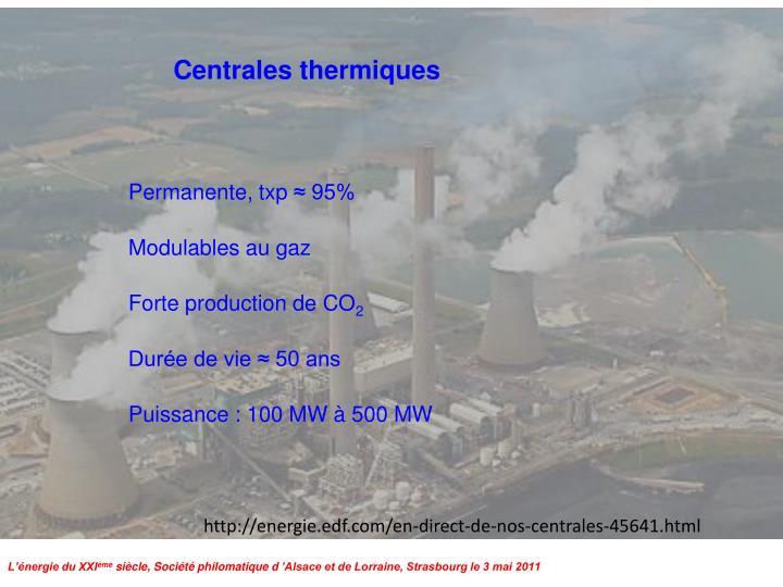 Centrales thermiques