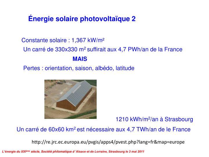 Énergie solaire photovoltaïque 2