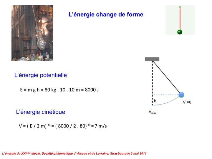 L'énergie change de forme