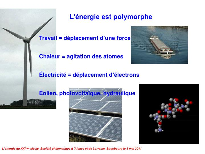 L'énergie est polymorphe