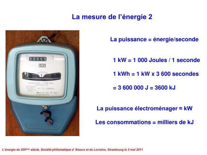 La mesure de l'énergie 2