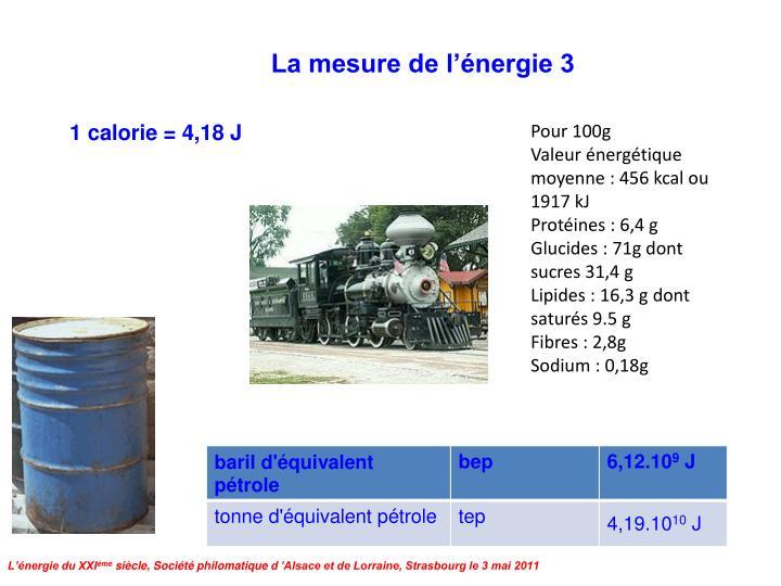 La mesure de l'énergie 3