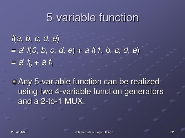 5-variable function
