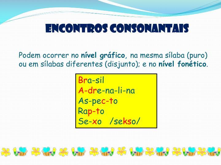 Encontros consonantais
