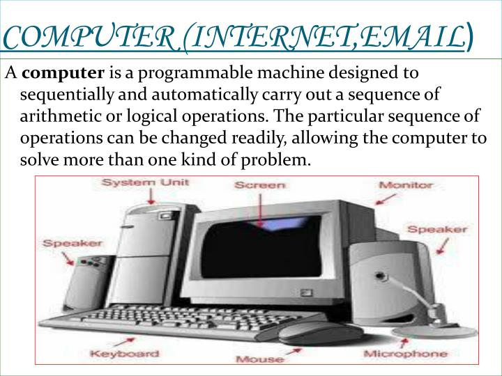 COMPUTER (INTERNET,EMAIL