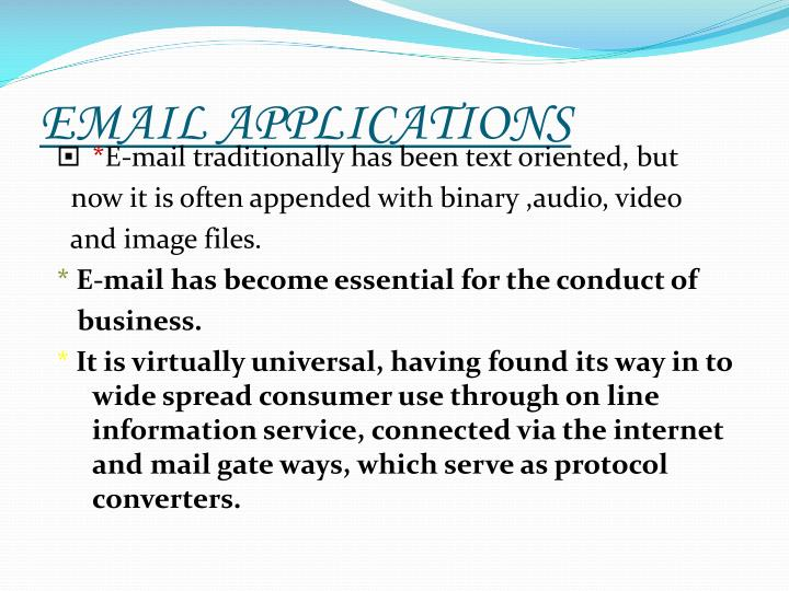 EMAIL APPLICATIONS