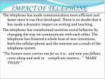 impact of telephone