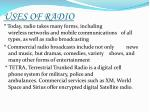 uses of radio