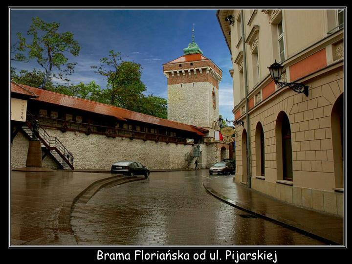 Brama Floriańska od ul. Pijarskiej