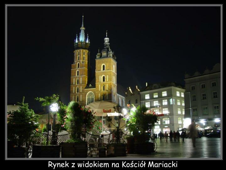 Rynek z widokiem na Kościół Mariacki