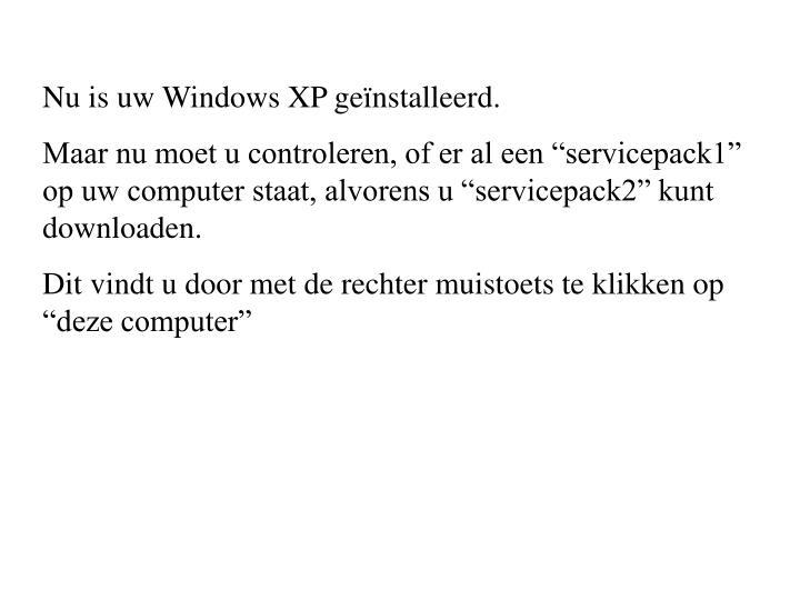 Nu is uw Windows XP geïnstalleerd.
