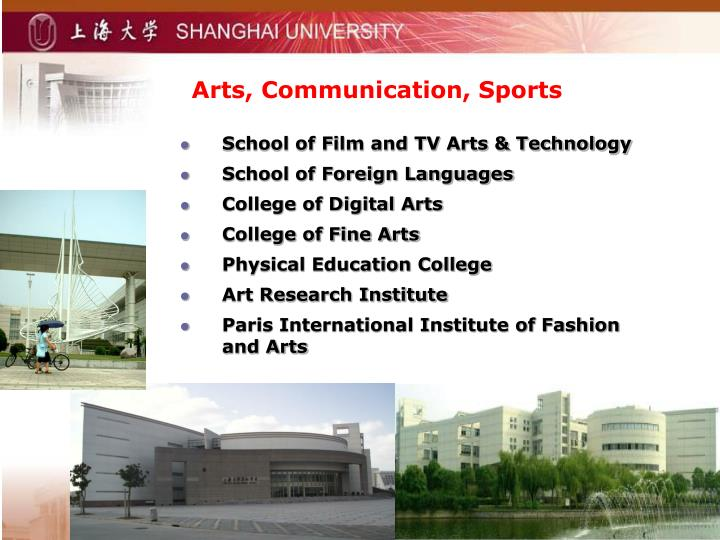 Arts, Communication, Sports