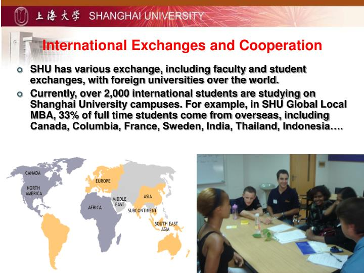 International Exchanges and Cooperation