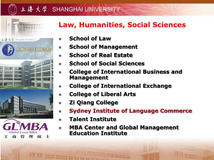 Law, Humanities, Social Sciences