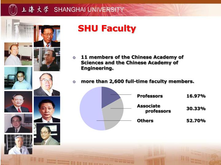 SHU Faculty