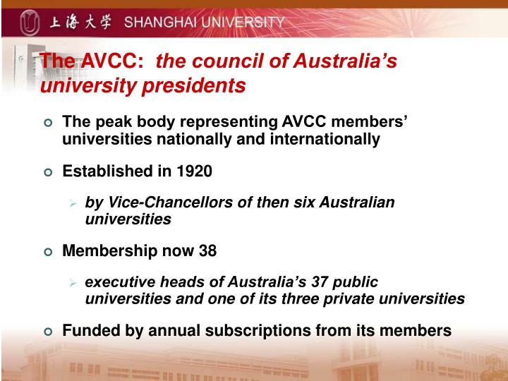 The AVCC: