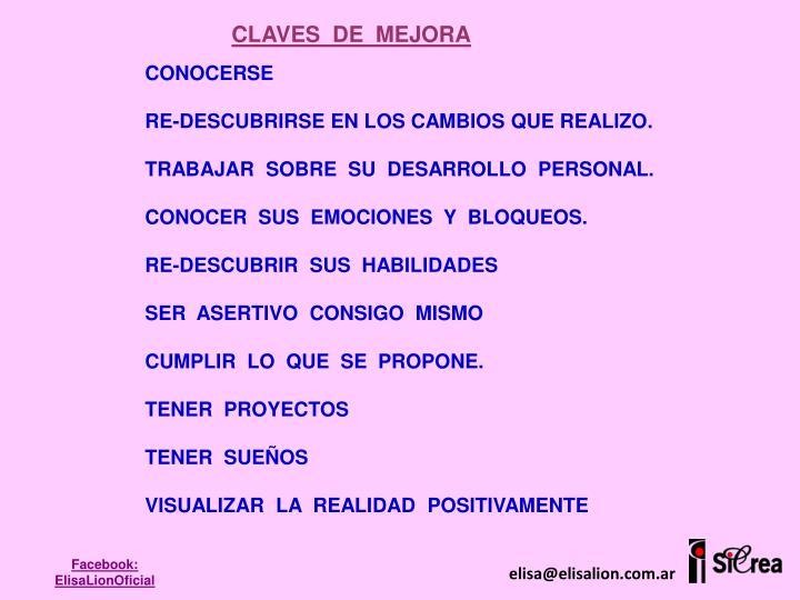 CLAVES  DE  MEJORA