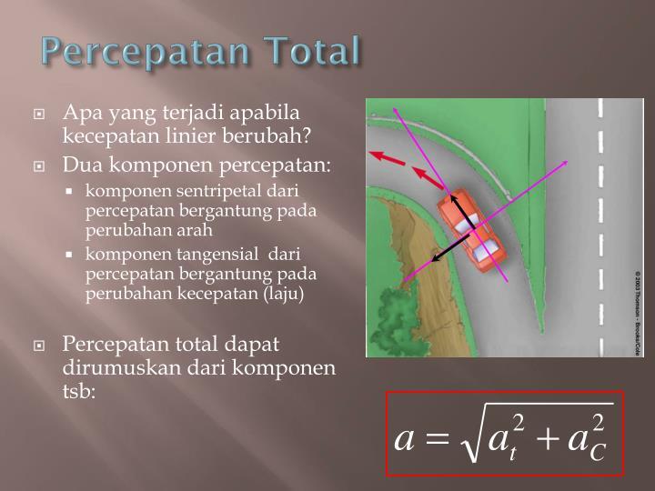 Percepatan Total