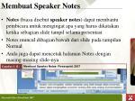membuat speaker notes