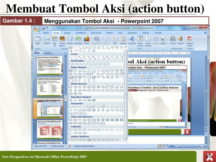 Membuat Tombol Aksi (action button)