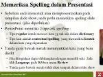 memeriksa spelling dalam presenta si